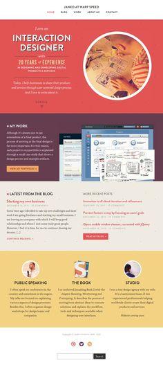 Website from an interaction designer