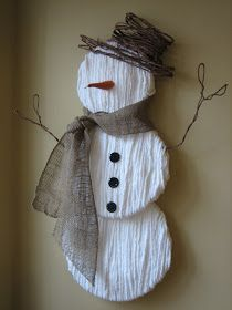 Be Different...Act Normal: Yarn Snowman