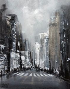 Dream Street -Tableau peinture de l'artiste peintre Bruni Eric