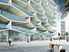 ¿Una fachada hexagonal? BIG explica el desafío estructural de 'Honeycomb',© BIG