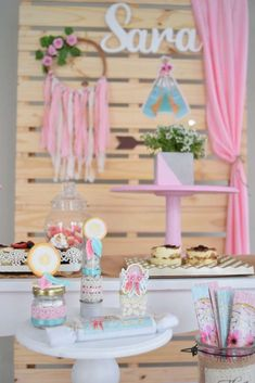 Baby Girl Birthday, 20th Birthday, Birthday Parties, Gender Reveal Party Decorations, Birthday Party Decorations, Shabby Chic Cakes, Bohemian Party, Twins 1st Birthdays, Aqua
