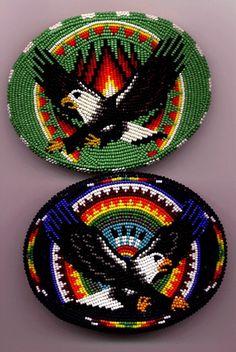 Eagles - beadwork -  - unknown artist