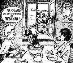 """""""Nebenan!""""   /  """"Next door! The squatted house is NEXT door!"""" - Detlef Surrey 1981"""