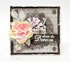 Anita Bownds: Dare to Dream #Card #primamarketing #salvagedistrict