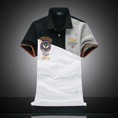 2018 New Men's Polo Shirts fashion Style Cotton embroidery Aerona – heavengif Polo Shirt Outfits, Mens Polo T Shirts, 3d T Shirts, Short Sleeve Polo Shirts, Golf Shirts, Shirt Men, Polo Shirt Design, Tee Shirt Designs, Polo Shirt Embroidery