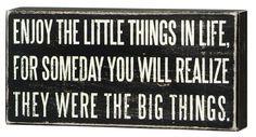 Box Sign - Sign - Enjoy The Little Things Primitives by Kathy, http://www.amazon.com/dp/B004MS2APY/ref=cm_sw_r_pi_dp_0U3Lpb0DHR18V