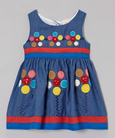 Denim Floral Appliqué Dress - Infant, Toddler & Girls #zulily #zulilyfinds
