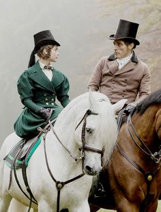 The Queen and Lord Melbourne. (Jenna Coleman and Rufus Sewell)