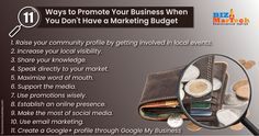 11 ways to promote your business when you don't have a marketing budget  #fromwhereistand #wahm #entrepreneur #smallbusiness #socialmedia #socialmediamarketing #network #networkmarketing #success #goals #beyourself #advertise #contentmarketing #Digitalmarketing #SEO #blogging #marketing #branding #marketingtips #marketingstrategy #startup #b2bmarketing