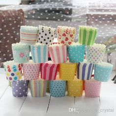 Dia 60*45mm Assorted 20 Design Color Muffin Cake Cupcake | Buy Wholesale On Line Direct from China