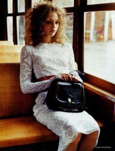 "bienenkiste:    ""The shining"". Sasha Pivovarova by Horst Diekgerdes for Vogue UK April 2006"