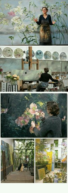 Clare Basler and her beautiful studio space