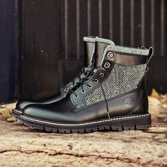 "Britton Hill 6"" Warm Lined Leather and Fabric Boot SKU: 9721B"