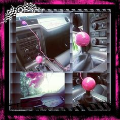 Pink 5.0 Shifter to match all my pink stuff in the inside of my Mustang♡