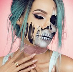 Desi Perkins melted makeup Halloween look