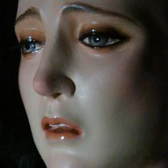 La Macarena - La cara de la Esperanza Macarena (the face of the Sorrowful Mother, christians Hope), Sevilla Vintage Mannequin, Dress Form Mannequin, Mannequin Heads, Madona, Our Lady Of Sorrows, Sad Faces, Clown Faces, Doll Parts, Puppets