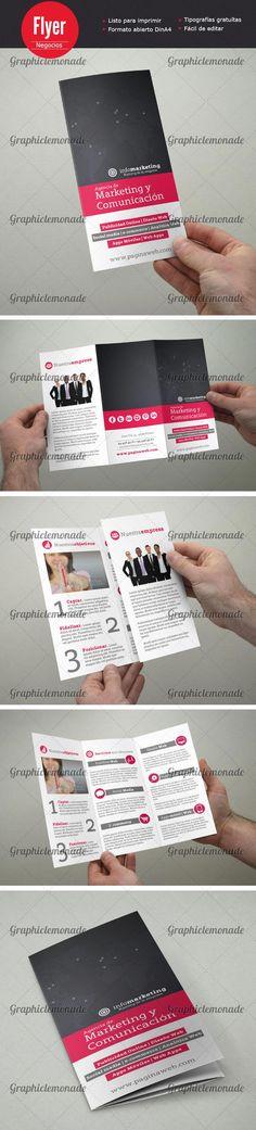 44 best Tripticos / Dipticos images on Pinterest Flyer design