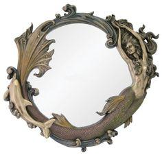 mermaid and dolphin mirror