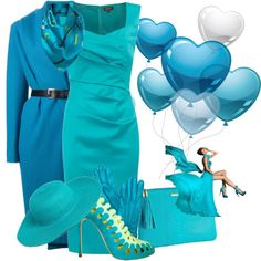 """GiGi New York Blue"" by cavell on Polyvore"