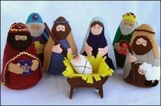 Pattern for felt nativity. Under 7 bucks