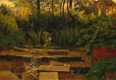 The Haunted Manor - William Holman Hunt 1849...of course, the haunted manor is a stock trope.