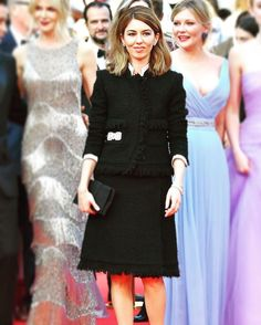 Congrats to the 2nd female to win #bestdirector at #cannes in 70 years #wtf! In a sea of pastels and gowns #sofiacoppola rock your #chanel noir #stylegoals #inspired #thebeguiled