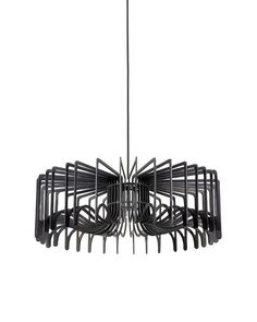 Add+some+elegance+and+style+to+your+home+by+using+this+Modern+Style+Wooden+Pendant+Light+with+Creative+Cage+Shape+Shade+in+Black.+The+creative+arrangement+of+wooden+battens+forms+a+bistratal+shade+design.+When+you+turn+the+lamp+on,+light+from+the+center+will+go+through+these+two+shades+and+form+different+shades+of+shadows+to+the+surroundings.+It+can+fit+many+different+home+styles.+You+can+install+it+in+your+living+room,+bedroom+or+study.