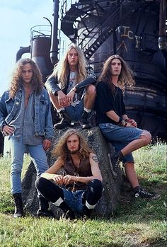 Alice in Chains, Seattle, 1990. - Jerry Cantrell looked like my boyfriend at this point. Legit, Jerry Centrell = my Henry. (Except he now looks more like his dad.)