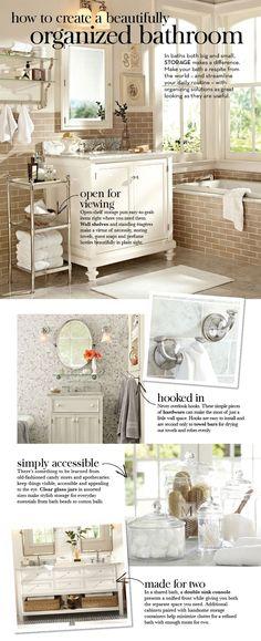 How to Create a Beautifully Organized Bathroom | Pottery Barn