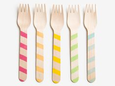 Sweet Stripes! Sucre Shop Cutlery  First Birthday Party Ideas | Everywhere - DailyCandy