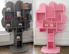 Hoy os propongo esta divertida estantería o pequeña biblioteca, donde tus hijos podrán poner todos sus cuentos, historias, libros