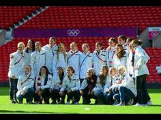 US Women's soccer Team at old trafford