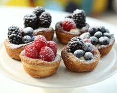 Rachel Khoo's berry tartlets with cream cheese frosting look like they belong in a fancy pastry shop