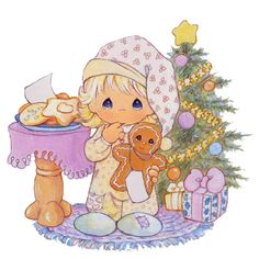 precious moments graphics | Precious Moments Ilustraciones Tarjeta Navidad Tamaño Grande
