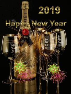 Happy New Year Gif, Happy New Year Quotes, Quotes About New Year, Happy Friendship Day, New Years Eve, Birthday Celebration, Happy Holidays, Pink And Green, Birthdays