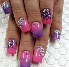 Girly nails, so pretty