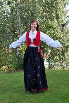 Norwegian traditional dress by Christian Haugen, via Flickr West-Agder Norwegian Clothing, Norway Christmas, Kristiansand, Lillehammer, Scandinavian Countries, Going Out Of Business, Traditional Dresses, Doll Clothes, Vest