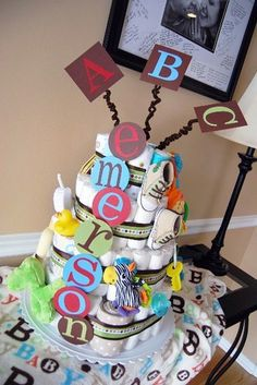baby shower cake diaper party-ideas