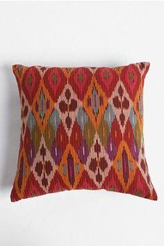 Reversible Ikat Pillow