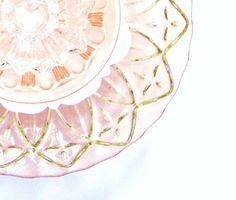 Garden Art  Decoration Glass Plate Flower Upcycled by jarmfarm, $47.00