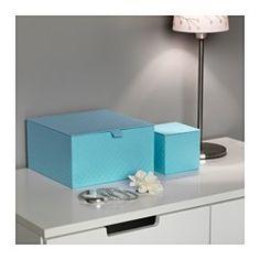 ПАЛЬРА Набор коробок с крышкой, 4 шт, голубой - IKEA