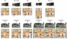 COVACO コバコ 間取り : 鈴木良工務店 BinO FREEQ Small Apartment Plans, Small Apartments, Building A House, Multi Story Building, Building Ideas, Floor Plans, Store, Life, Tent
