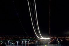 Long exposure photo of air traffic, pretty cool.