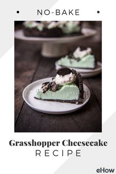 Grasshopper pie is a classic! Swap the classic Crème de menthe for the easier to source peppermint extract and food coloring, mix up a quick and easy no-bake cheesecake filling, and you have yourself a new twist on an old classic. Perfect for a weeknight treat, or even a dessert for guests.
