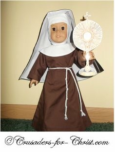 Saint costumes for 18 inch dolls- so cute!