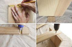 How to Make a Vertical Bookshelf   eHow Vertical Bookshelf, Diy Wood Wall, Wall Racks, Diy Electronics, Rustic Walls, Cooking Tools, Rustic Style, Bookshelves, Crates