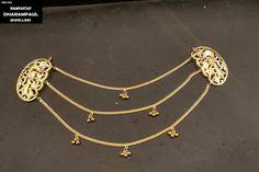 Jewelry Design Earrings, Gold Earrings Designs, Gold Jewellery Design, Gold Jewelry Simple, Stylish Jewelry, Antique Jewellery Designs, Antique Jewelry, Punjab Culture, Punjabi Traditional Jewellery