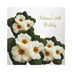50th Birthday Party Elegant Green White Flowers Invitations from http://www.zazzle.com/50th+birthday+invitations
