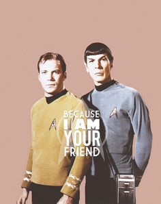 This IS Spock and Kirk...FOREVER!
