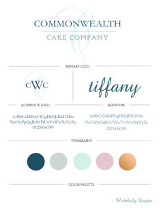 Commonwealth Cake Company Branding  ||  Designed by Writefully Simple